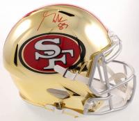 George Kittle Signed 49ers Full-Size Chrome Speed Helmet (Beckett COA) at PristineAuction.com