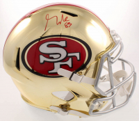 George Kittle Signed 49ers Full-Size Chrome Speed Helmet (Beckett COA) at PristineAuction.com