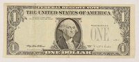 Error Note - Overprint on Reverse - 1995 $1 One-Dollar Green Seal U.S. Federal Reserve Note at PristineAuction.com