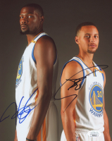 Kevin Durant & Stephen Curry Signed Warriors 8x10 Photo (JSA COA) at PristineAuction.com