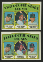 Lot of (2) 1972 Topps #79 Rookie Stars / Mike Garman / Cecil Cooper RC / Carlton Fisk RC at PristineAuction.com