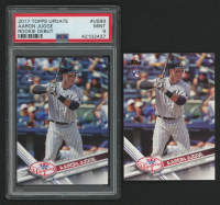 Lot of (2) Aaron Judge 2017 Topps Update #US99A RD with (1) Graded PSA 9 at PristineAuction.com