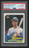 Ken Griffey Jr. 1989 Topps Traded #41T RC (PSA Authentic) at PristineAuction.com