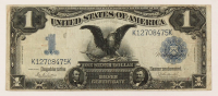 "1899 $1 One-Dollar ""Black Eagle"" U.S. Silver Certificate Large-Size Bank Note at PristineAuction.com"