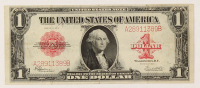 1923 $1 One-Dollar Red Seal U.S. Legal Tender Large-Size Bank Note at PristineAuction.com