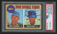 """Nolan Ryan Signed 1968 Topps #177 Rookie Stars Jerry Koosman RC Inscribed """"The Ryan Express"""" (PSA Encapsulated) at PristineAuction.com"""