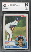 Wade Boggs 1983 Topps #498 RC (BCCG 10) at PristineAuction.com