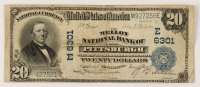 1902 $20 Twenty-Dollar U.S. National Currency Large-Size Bank Note - The Mellon National Bank of Pittsburgh, Pennsylvania at PristineAuction.com