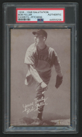 Bob Feller 1939-46 Exhibits Salutation #15B / Yours Truly / pitching pose (PSA Authentic) at PristineAuction.com