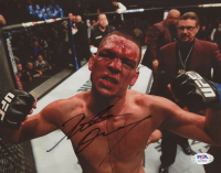 Nate Diaz Signed UFC 8x10 Photo (PSA COA) at PristineAuction.com