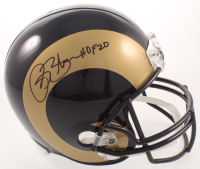 "Isaac Bruce Signed Rams Full-Size Helmet Inscribed ""HOF 20"" (Beckett COA) at PristineAuction.com"
