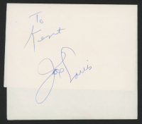 Joe Louis Signed Piece of Paper (JSA ALOA) at PristineAuction.com