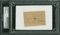 Joe Louis Signed 1.75x2.75 Cut (PSA Encapsulated) at PristineAuction.com