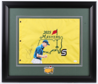Jordan Spieth Signed 2015 Masters 23.5x27.5 Custom Framed Pin Flag Display With Custom Printed Photo (JSA Hologram) at PristineAuction.com