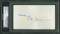 "Bill Clinton Signed .75x4 Cut Inscribed ""Thanks"" (PSA Encapsulated) at PristineAuction.com"