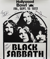 Black Sabbath 18x20.75 Concert Poster Band-Signed by (4) with Ozzy Osbourne, Geezer Butler, Bill Ward & Tony Iommi (PSA COA) at PristineAuction.com