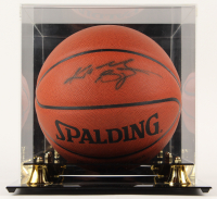 Kobe Bryant Signed NBA Basketball with Display Case (PSA Hologram & Beckett LOA) at PristineAuction.com
