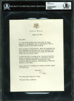 Ronald Reagan Signed 1991 Personal Letter (BAS Encapsulated) at PristineAuction.com