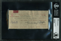 Frank Lloyd Wright Signed 2.75x6 Cut (BGS Encapsulated) at PristineAuction.com