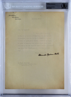 Alexander Graham Bell Signed 8x10 Letter (BGS Encapsulated) at PristineAuction.com