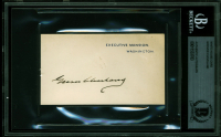 Grover Cleveland Signed 2.25x4 Card (BGS Encapsulated) at PristineAuction.com