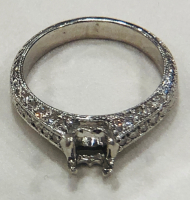 Semi Mount Diamond Ladies Engagement Ring at PristineAuction.com