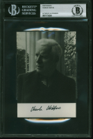 Charlie Chaplin Signed 3.75x5.5 Photo (BGS Encapsulated) at PristineAuction.com