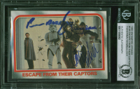 Carrie Fisher, Peter Mayhew & Jeremy Bulloch Signed 1980 Star Wars ESB #108 (BGS Encapsulated) at PristineAuction.com