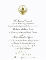 "Richard Nixon & Spiro Agnew Signed Inauguration Invitation Inscribed ""9-4-84"" & ""10/18/84"" (Beckett LOA) at PristineAuction.com"