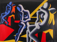 "Mark Kostabi Signed LE ""Languor of Love"" 27x37 Print (PA LOA) at PristineAuction.com"