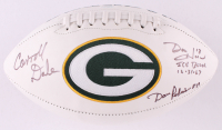 "Dave Robinson, Carroll Dale & Don Horn Signed Packers Logo Football Inscribed ""Ice Bowl 12-31-67"" (JSA Hologram) at PristineAuction.com"