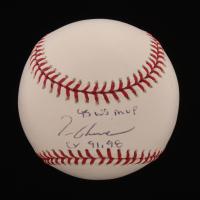 "Tom Glavine Signed OML Baseball Inscribed ""95 WS MVP"" & ""Cy 91, 98"" (JSA Hologram) at PristineAuction.com"