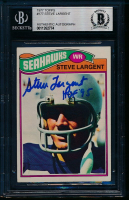 """Steve Largent Signed 1977 Topps #177 RC Inscribed """"HOF 95"""" (BGS Encapsulated) at PristineAuction.com"""