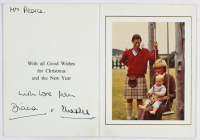 "Diana, Princess of Wales & Charles, Prince of Wales Signed 1983 Christmas Card Inscribed ""With Love From"" (Beckett LOA) at PristineAuction.com"