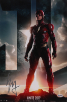 """Ezra Miller Signed """"Justice League"""" 12x18 Photo (Beckett COA) at PristineAuction.com"""
