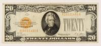 1928 $20 Twenty-Dollar U.S. Gold Certificate Bank Note at PristineAuction.com