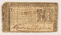1770 $2 Two-Dollar - Maryland - Colonial Currency Note at PristineAuction.com