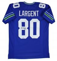 "Steve Largent Signed Jersey Inscribed ""HOF 95"" (Beckett COA) at PristineAuction.com"