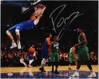 Kristaps Porzingis Signed Knicks 16x20 Photo (PSA Hologram) at PristineAuction.com