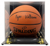 Zion Williamson Signed NBA Game Ball Series Basketball with Display Case (Fanatics Hologram) at PristineAuction.com