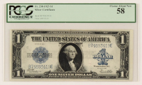 1923 $1 One-Dollar Blue Seal Large-Size Silver Certificate Bank Note (PCGS 58) at PristineAuction.com