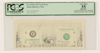 Error Note - Insufficient Inking - 1977-A $5 Five-Dollar Green Seal U.S. Federal Reserve Note (PCGS 35) at PristineAuction.com