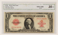 1923 $1 One-Dollar Red Seal U.S. Legal Tender Large-Size Bank Note (CGA 35) at PristineAuction.com