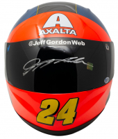 Jeff Gordon Signed NASCAR Axalta Rainbow Racing Full-Size Helmet (Gordon Hologram & Beckett COA) at PristineAuction.com