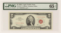 Star Note - 1963 $2 Two-Dollar Red Seal U.S. Legal Tender Bank Note (PMG 65) (EPQ) at PristineAuction.com