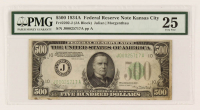 1934-A $500 Five Hundred-Dollar Federal Reserve Note (PMG 25) at PristineAuction.com