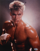 """Dolph Lundgren Signed """"Rocky IV"""" 11x14 Photo (Beckett COA) at PristineAuction.com"""