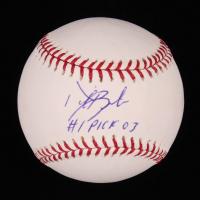 "Daric Barton Signed OML Baseball Inscribed ""#1 Pick 03"" (Sids Graphs COA) at PristineAuction.com"