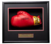 Jake LaMotta Signed 18x19x4 Everlast Boxing Glove Shadowbox (JSA COA) at PristineAuction.com