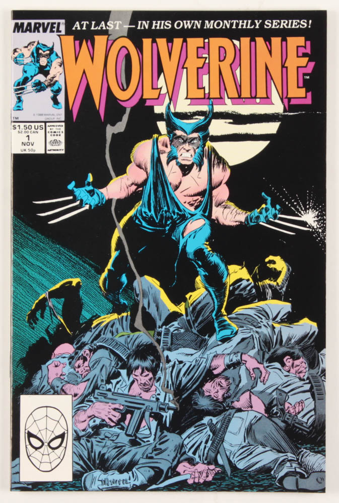 "1988 ""Wolverine"" Issue #1 Marvel Comic Book at PristineAuction.com"